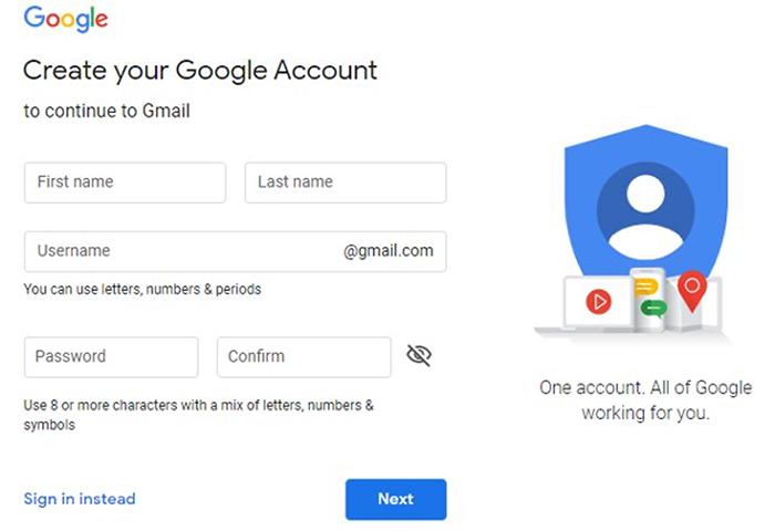 Create a Google Account.