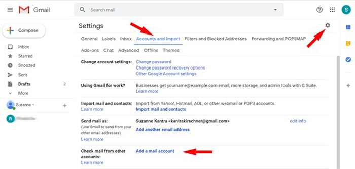 Steps on ho to set up Gmail.